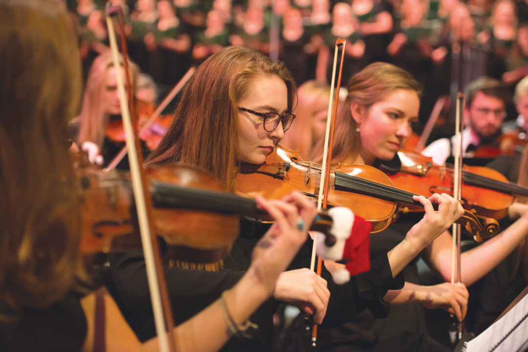 STRINGS THAT RING. This year marks the 43rd annual presentation of UW-Eau Claire's musical prowess. Several student-powered ensembles converge in the name of holiday joy in Zorn Arena on Dec. 3, so don't miss out.