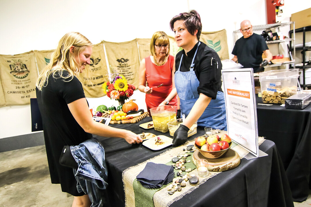 Chef Amy Huo (center) during last fall's First Taste Culinary Crawl.