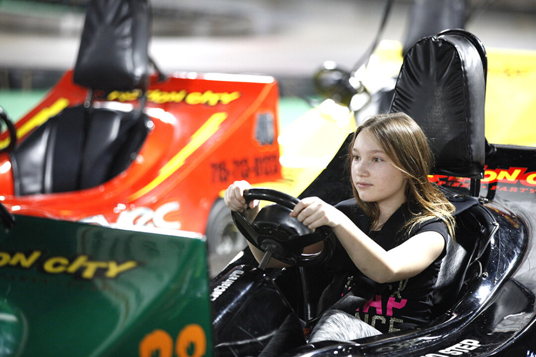 Go-Kart in the new year at Action City's Lock-In event.