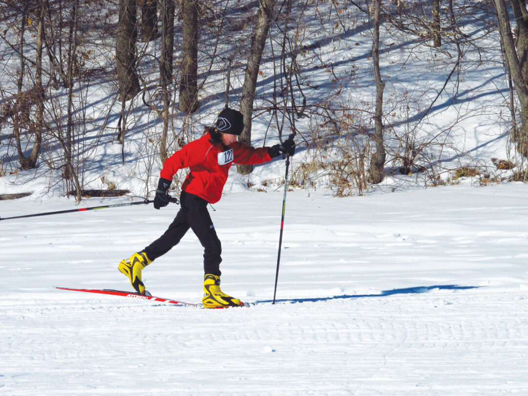 Cross-country skiing at Lake Wissota. Photo: Elizabeth Schultz