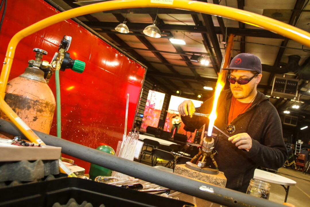 Artisan Forge Studios is home to 43 small businesses, most of them artisans, including glassblowers, metalworkers, painters, and more