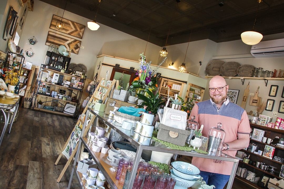 SHELF LIFE. Matt Pabich recently opened Raggedy Man, a new gift shop, in downtown Eau Claire.