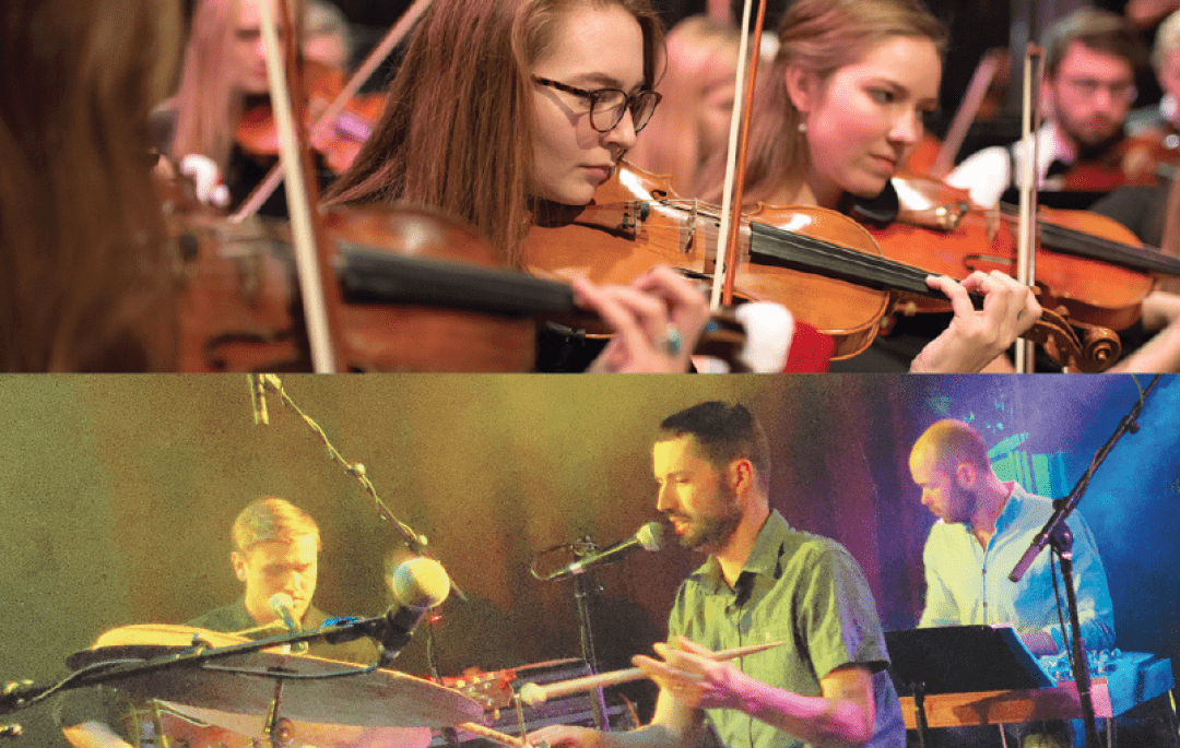 Top: University Symphony Orchestra (UW-Eau Claire); Bottom: S. Carey (Luong Huynh)