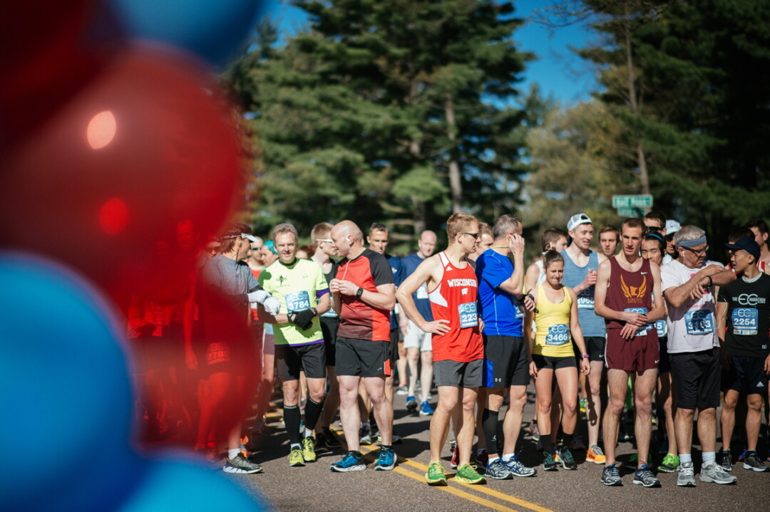 KEEPING THE RUNNER'S FEET POUNDING AND THE SPECTATOR'S HEARTS POUNDING. Get ready to cheer on the Eau Claire Marathon on Sunday, May 6.