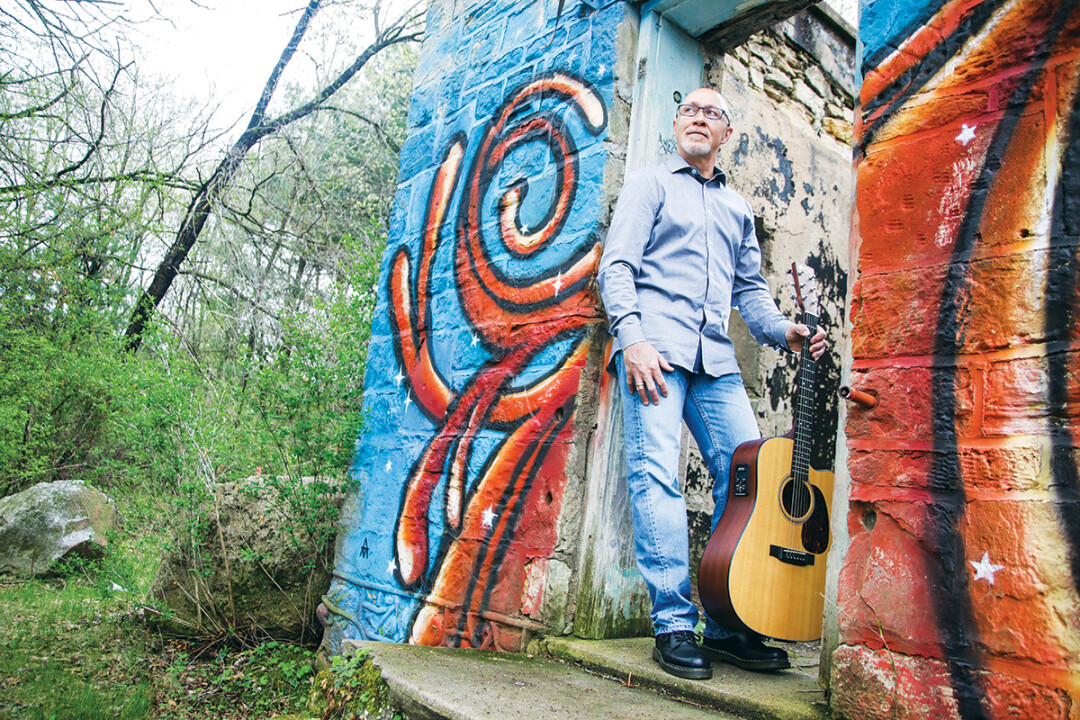 Singer-songwriter Mogey McDonough's new album is called Dichotomous Thinking. It was produced at Drum Farm Studios in Menomonie.