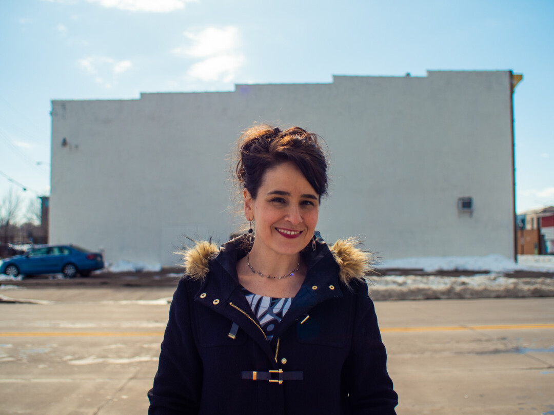 WALL ME LATER. Mural artist and digital designer Molly Z will paint the side of the Eau Claire Printing Co. building on the corner of Galloway and Farwell streets.