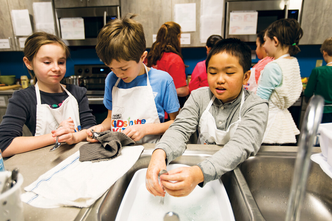 EDUCATIONAL EATS.  Eau Claire 4th grade students learn about food preparation, kitchen safety, and health and fitness at Kids in the Kitchen.
