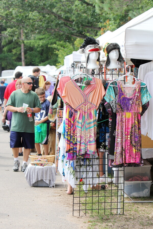 DRESSED UP. Patrons check out the merchandise at a previous Festival in the Pines at Carson Park.