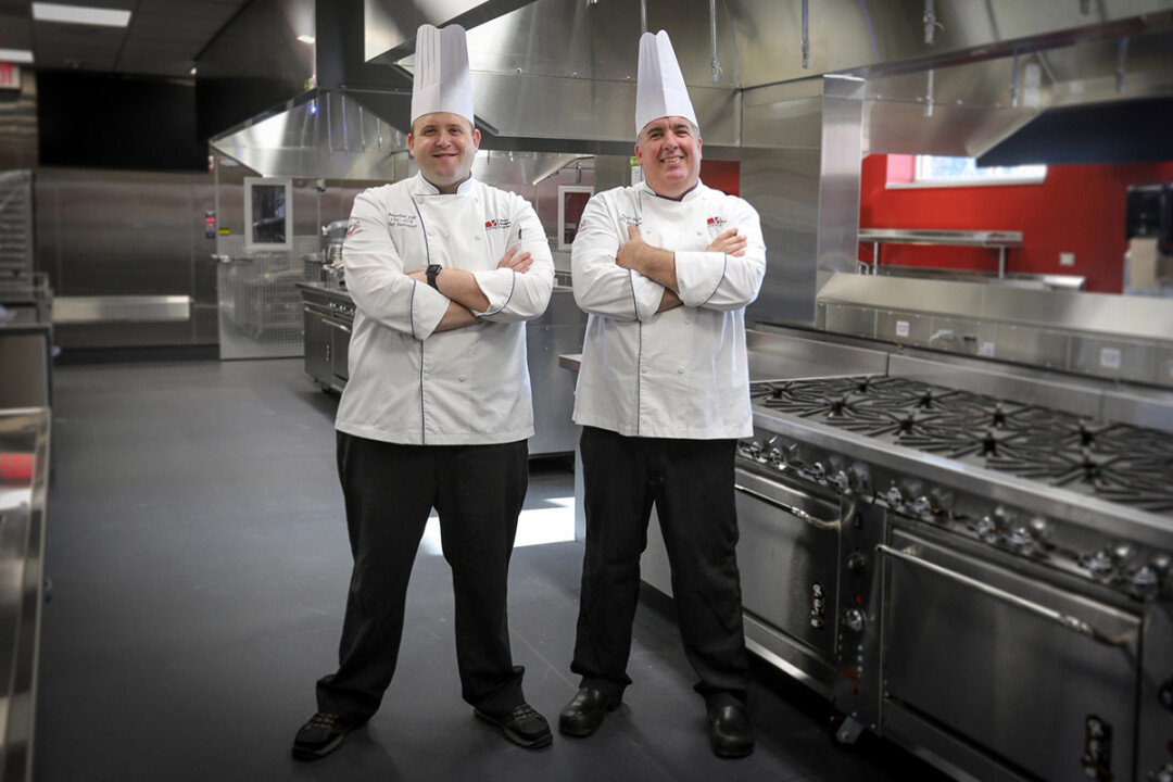 LET'S GET COOKIN'. Chef instructors Jonathan Fike, left, and Kevin Brown, oversaw the creation of an instructional kitchen at Chippewa Valley Technical College.