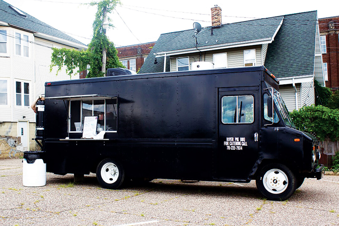 BIG TRUCK, BIG TASTE. River Pig BBQ is a new food truck from chef and operator Josh Steinmetz. Standard menu items include loaded tots, nachos, tacos, and brisket.