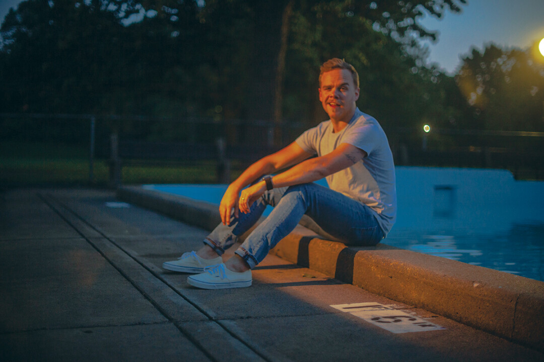 COOLIN' AND POOLIN'. Graham McCullough is the brains behind a new pop project called Mounder, where he enlisted tons of notable musical friends for his debut EP.