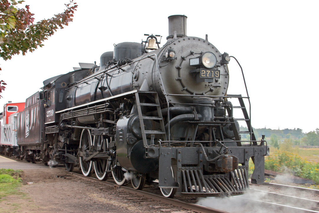 READY FOR A RAIL GOOD TIME. The Soo Line 2719 steam engine, shown here in Two Harbors, Minnesota, may soon be returned to the city of Eau Claire.