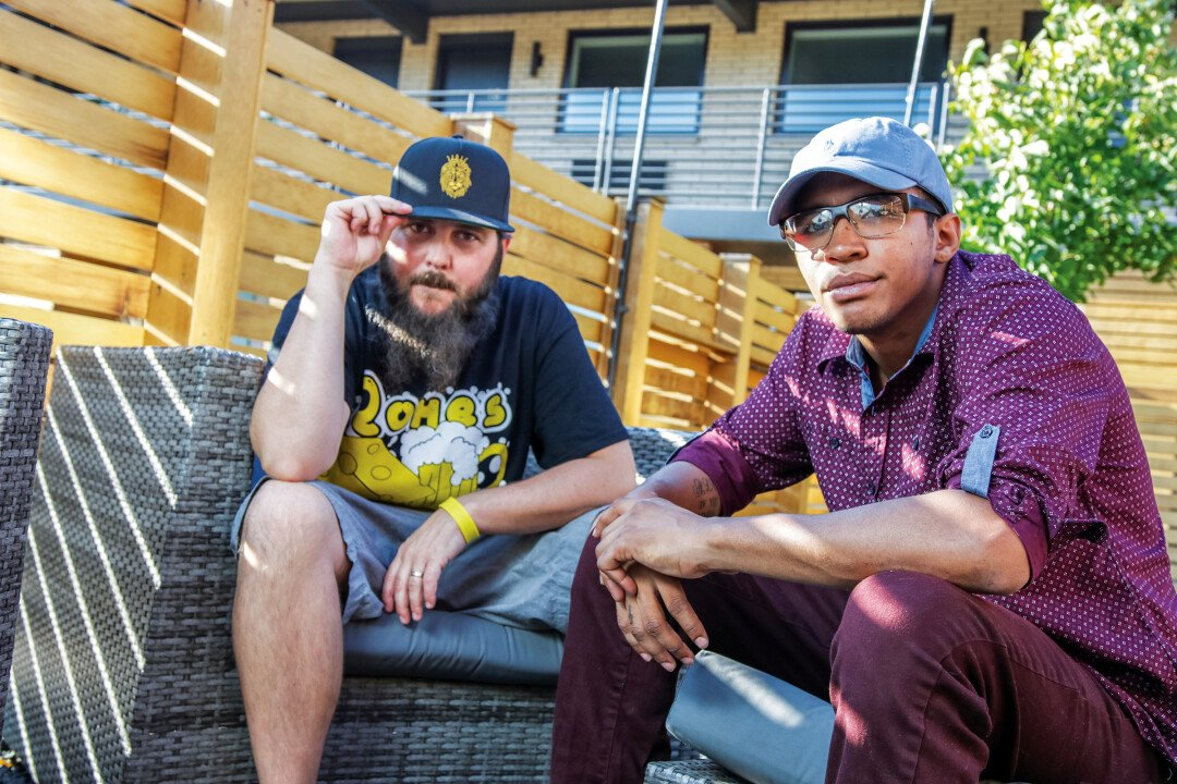 GAME CHANGERS. Mason Hateli a.k.a. Mr. Pizzy (left) and Raymond Clayton a.k.a. Mistah have been wanting to collaborate on a hip hop album for years and years, and this fall, it finally happened with seamless results.
