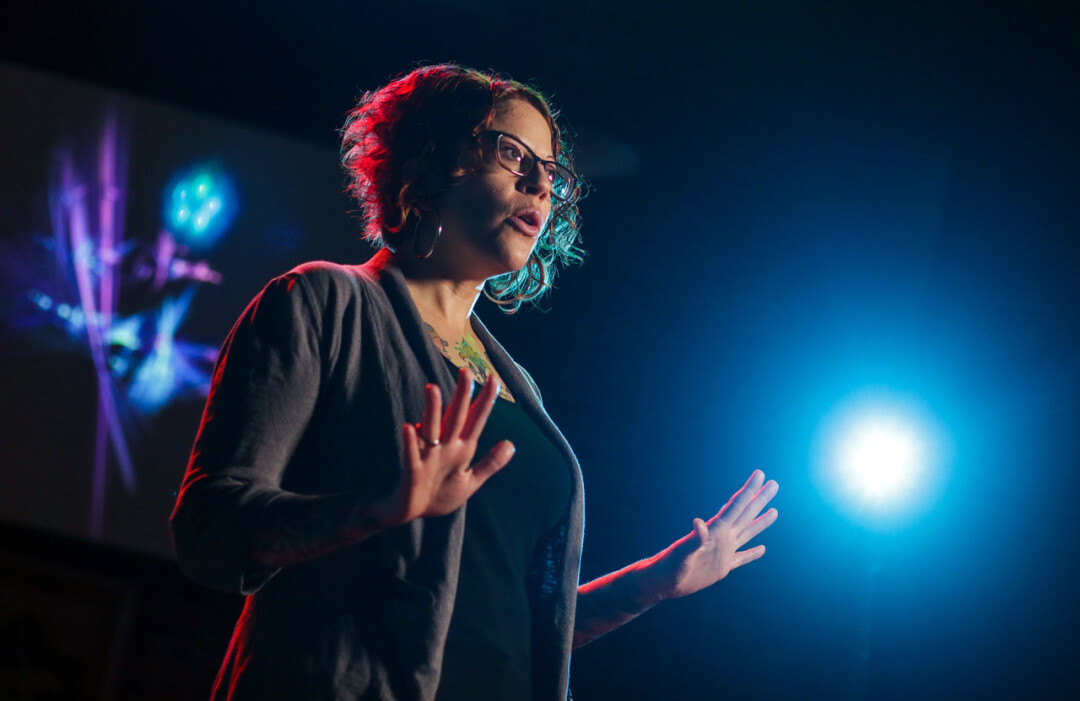 BRINGING FANTASTIC STORIES TO LIFE. Jodie Arnold is one of the featured storytellers at Volume One's upcoming Pablo Center stage show, True North, a jam-packed storytelling event like no other.
