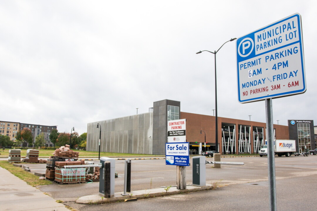 "Four proposals have been made to build on Block 7 and the ""liner"" site in front of the downtown parking ramp between Riverfront Terrace and Wisconsin Street."