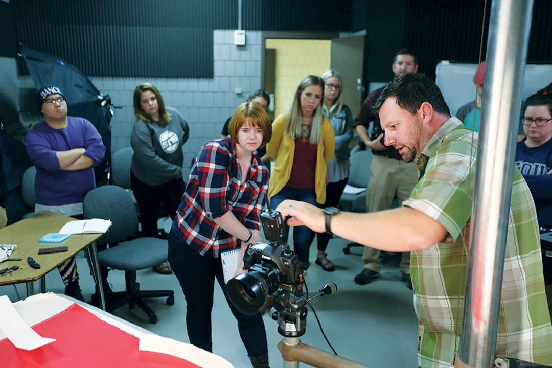 A FLARE FOR THE LENS. UW-Stout's Bachelor of Science degree in video production builds on the school's existing photography and video minor.