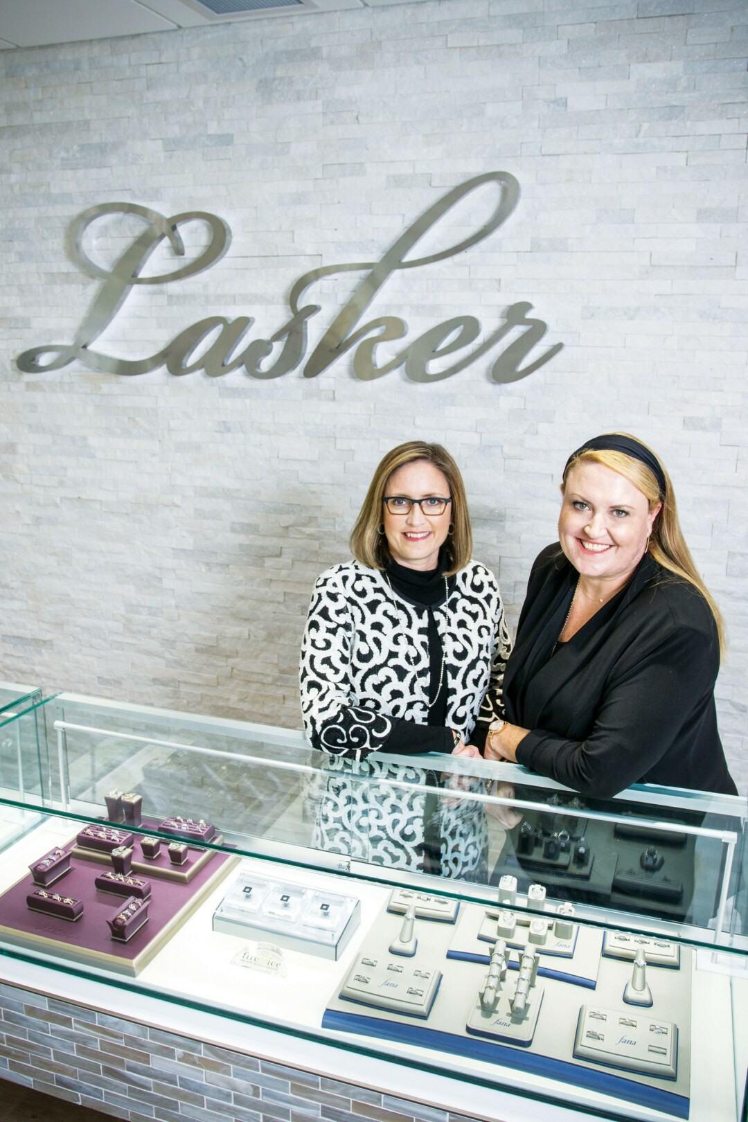 SPARKLING MEMORIES. Sisters Liz and Nicole Lasker head up Lasker Jewelers, selling some of the finest jewelry in the Valley, and giving back to the community.