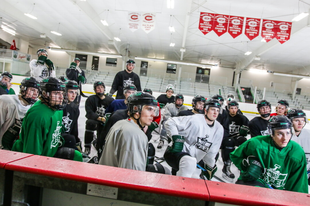 RINK THINK. The Chippewa Steel, who make their home in the Chippewa Area Ice Arena, are in their inaugural season in the North American Hockey League.