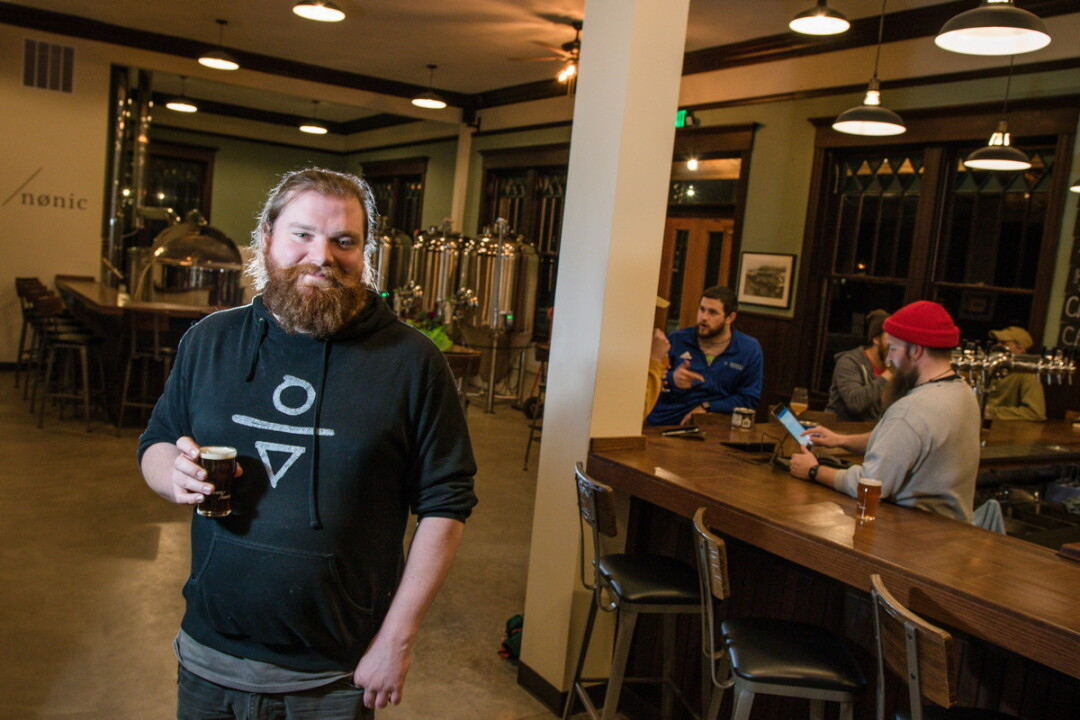 BEST PLACE FOR BUDS AND BREWS. Ryan Verson, owner  of Brewery Nønic in Menomonie, hopes the venue will become a fun place for people to hang out, snack, and enjoy a good beer.