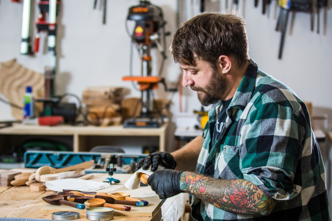 WOOD YOU LIKE A PEEK BEHIND THE SCENES? Nick Endle got into wood working to use his hands and the spend more time with his father. Over the past five years, his hobby has evolved into a business.