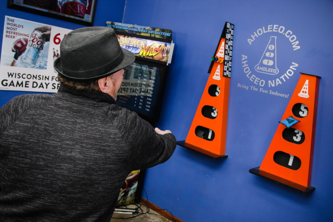 DON'T BE AN A-HOLE. Already, a new cornhole-ish game called Aholeeo – invented by locals – is popping up in bars and rec rooms around the Chippewa Valley.