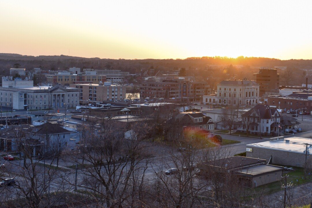 A view of downtown Eau Claire. (Photo by Taylor Smith)