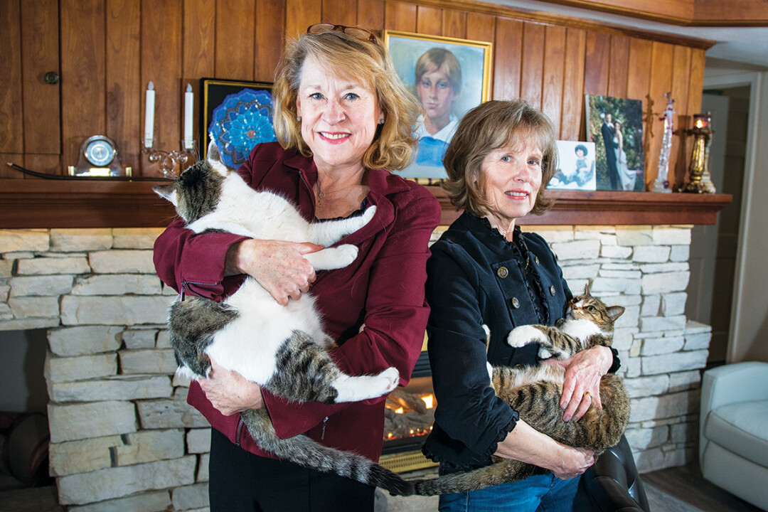 THE CATS ARE OUT OF THE BAG. Best friends of 40 years Jayne Fleming and Betsy Gerdes have partnered on a new book called Magic in the Leaves.