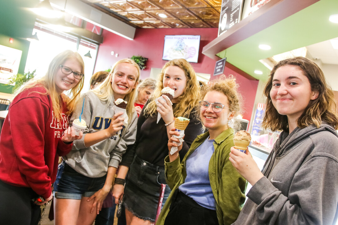 SWEETENING THE DEAL. Olson's Ice Cream opened a new location in downtown Eau Claire over Memorial Day weekend, much to the delight of ice cream enthusiasts.