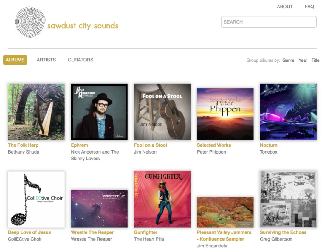 GET DOWN TO THE EC SOUND. The new Sawdust City Sounds website, created by the L.E. Phillips Memorial Public Library, provides streaming access to local music.