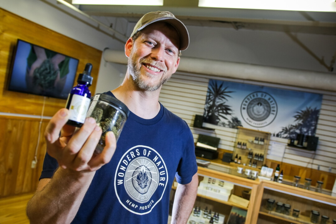 WHAT'S UP, BUD? Wonders of Nature owner Chris Buske aims to provide affordable, quality CBD/hemp products.
