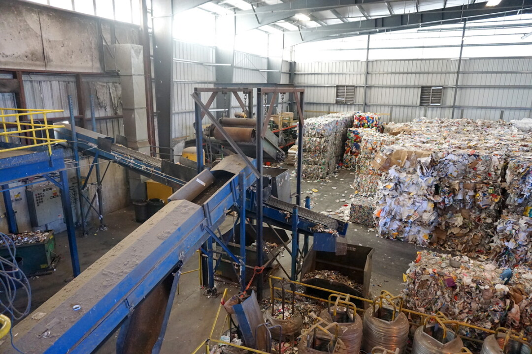 A materials recovery facility in Michigan.