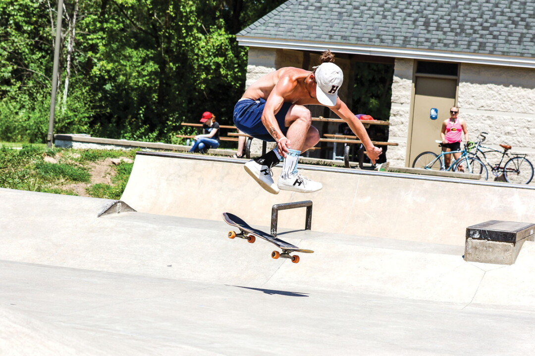 JUMPING FOR JOY? Lakeshore Skatepark, shown here, is currently the only skatepark in Eau Claire.