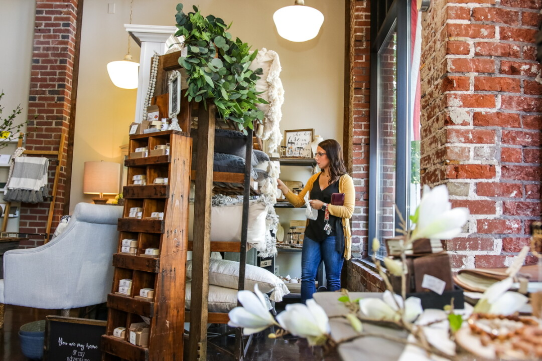 SEE WHAT'S IN STORE. November Grace in Chippewa Falls offers home furnishings in a historic environment.