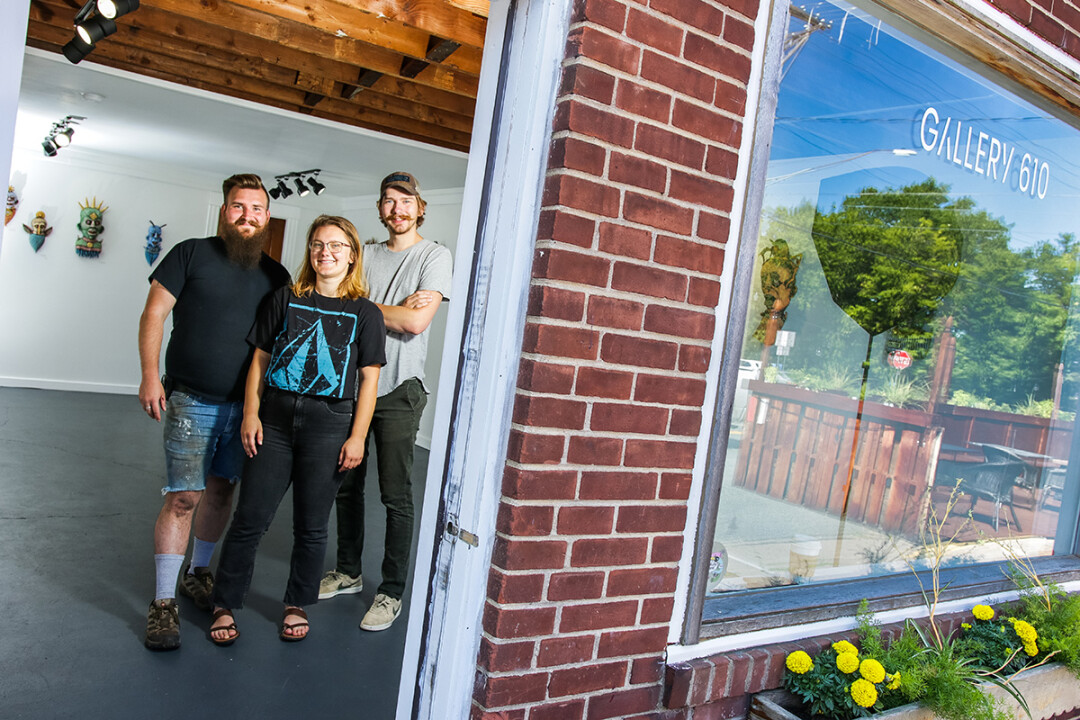 Gallery 610 Founders Jared Leclaire, Emily Gordon,  and Ed Erdmann