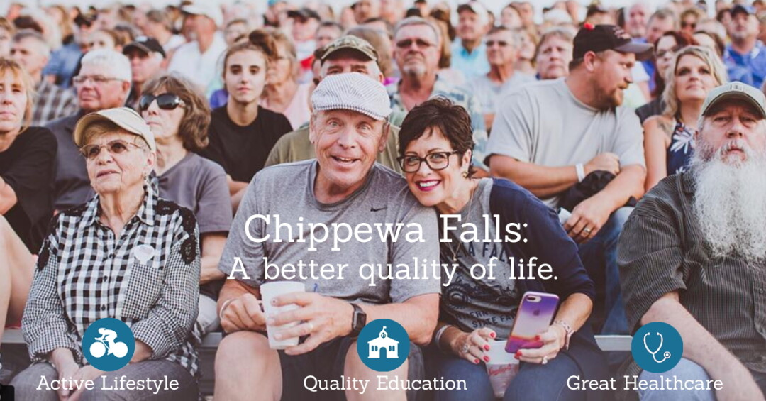 CHILLIN' IN CHIPPEWA. The Chippewa Falls Area Chamber of Commerce recently launched a website (above) touting the city as a relocation destination for workers.