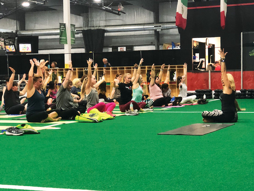 RAISE YOUR HAND IF YOU LIKE FITNESS! Check out the Kimbentley FITNESS EXPO at the L.E. Phillips YMCA Sports Center in Eau Claire on September 21.