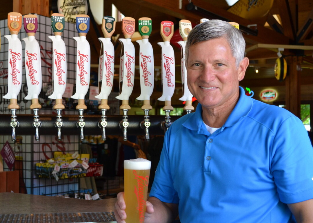 "MAKING A SPLASH. Dick Leinenkugel, above, says Leinenkugel's latest beverage, Spritzen – a beer flavored with a splash of seltzer – will be launched in March. ""Spritzen"" is the German word for ""splash."""