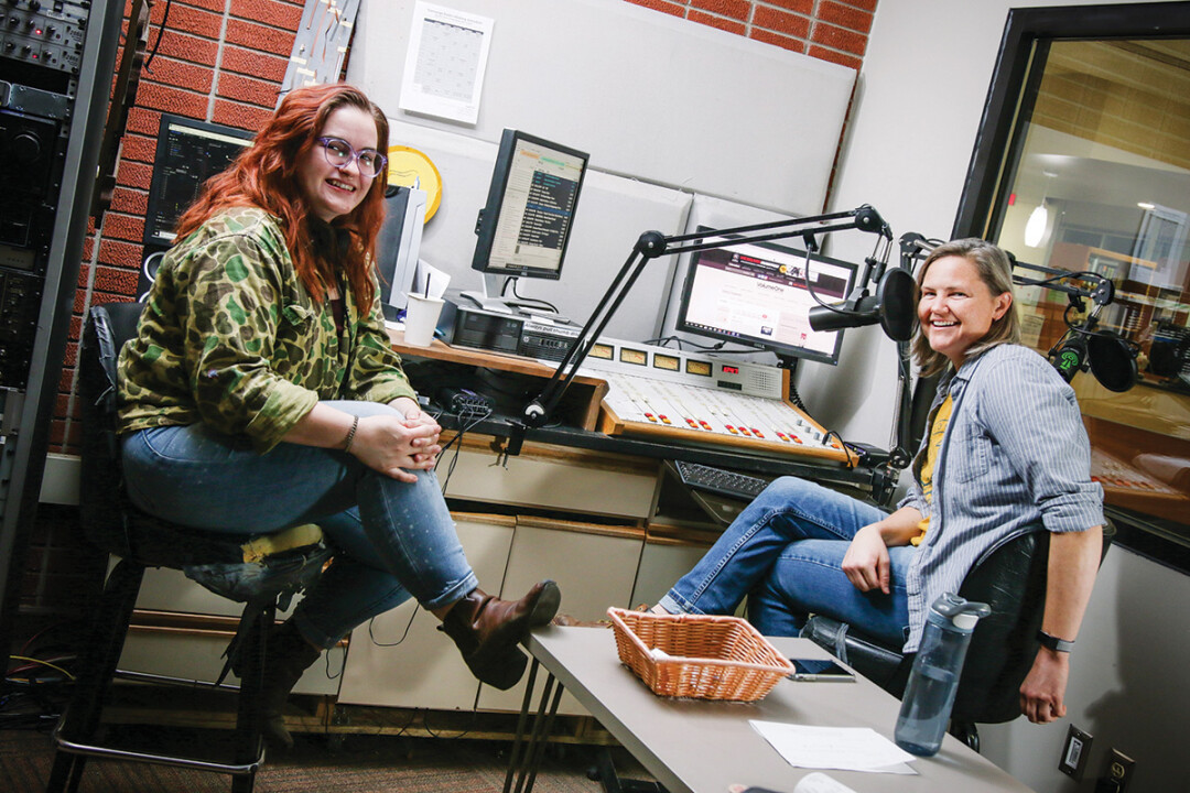 Producer kessa alright (Left) And jerrika mighelle are the duo behind the tunes from the womb program on converge radio that celebrates the music of women of all kinds. (Right) Jerrika performs at a recent sofar sounds show in eau claire.