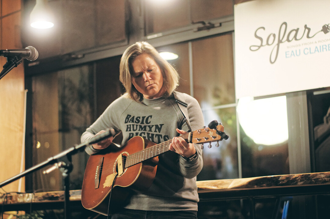 Jerrika performs at a recent sofar sounds show in Eau Claire.