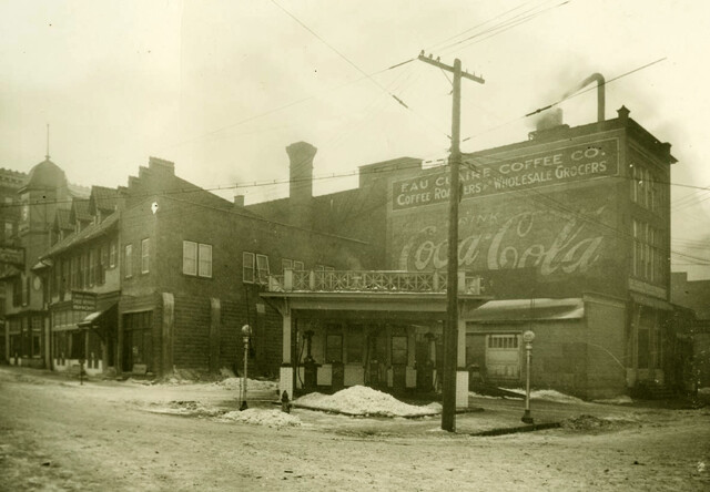 The Eau Claire Coffee Co., a roasting business, operated on what is now Graham Avenue in the 1920s. Image: Chippewa Valley Museum