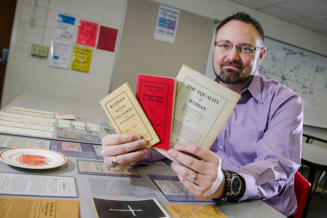 ARCHIVAL SURPRISE. While a student at UW-Eau Claire, John E. Kinville discovered records of a women's Ku Klux Klan group were housed in the Special Collections Department. Years later, they inspired a book.
