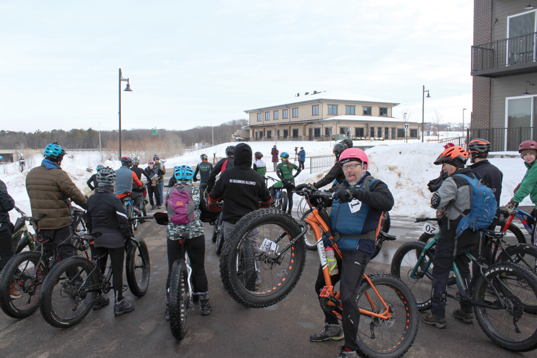 A WHEELIE GOOD TIME IN THE SNOW. Several dozen racers took part in the inaugural Frosty Toona Fat Tire Bike Race Feb. 1 at River Prairie Park, part of Altoona's Frosty Fun series of outdoor events. Frosty Fun is inspired by the larger WinterMission effort, which aims to get Chippewa Vallians outside during the colder months.