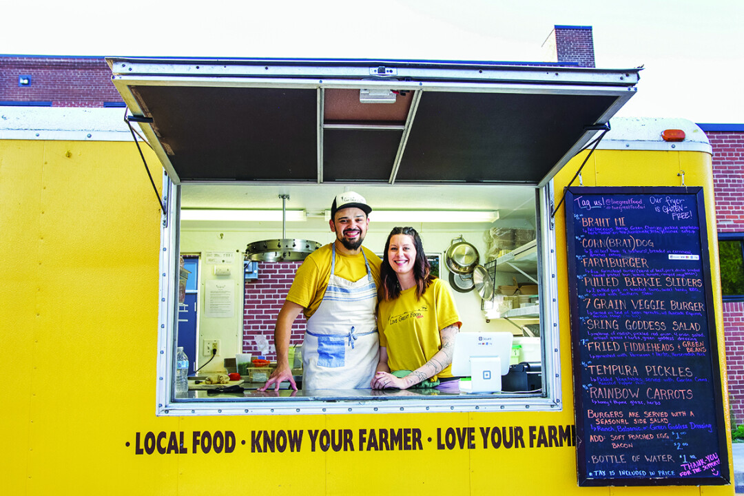 FARM FRESH FLAVORS. Tony and Jamie Chavez will bring their Live Great Food truck all over the Valley this summer, with farm-to-fork goodness and a passion for local ingredients.