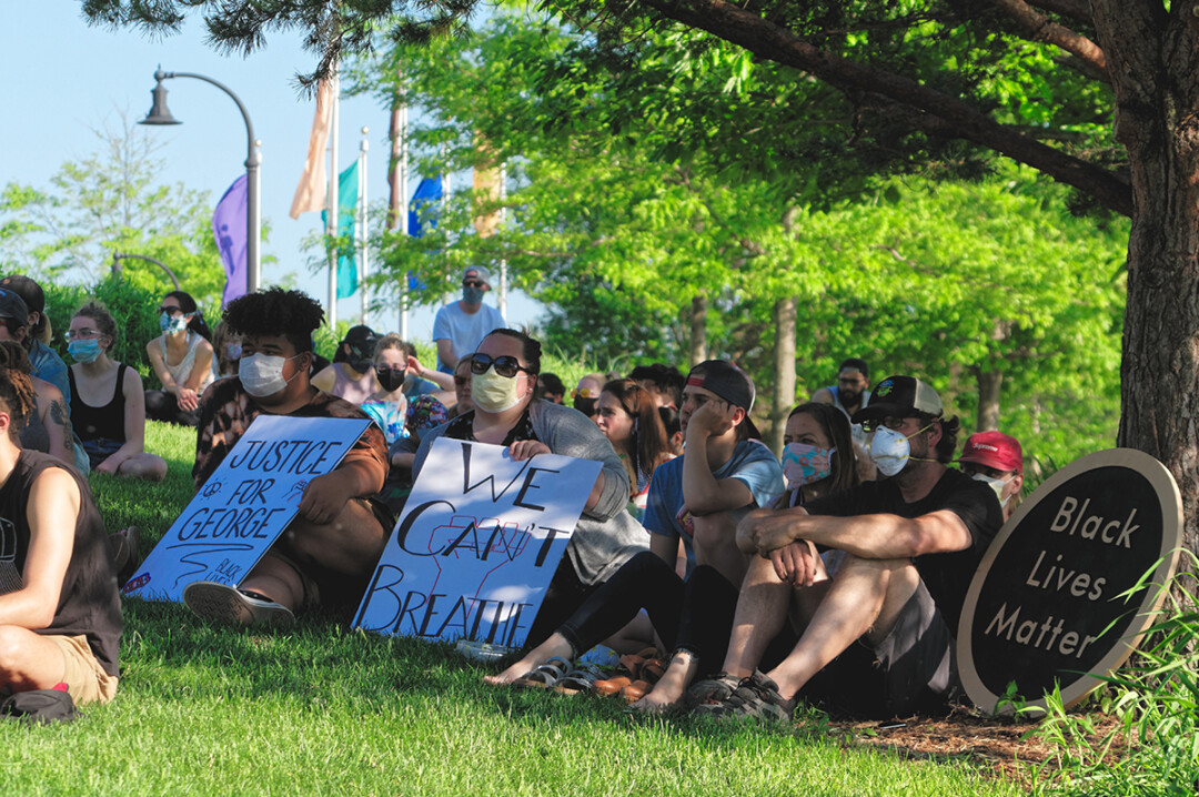 Participants in a Black Lives Matter demonstration at Phoenix Park on Monday, June 1.