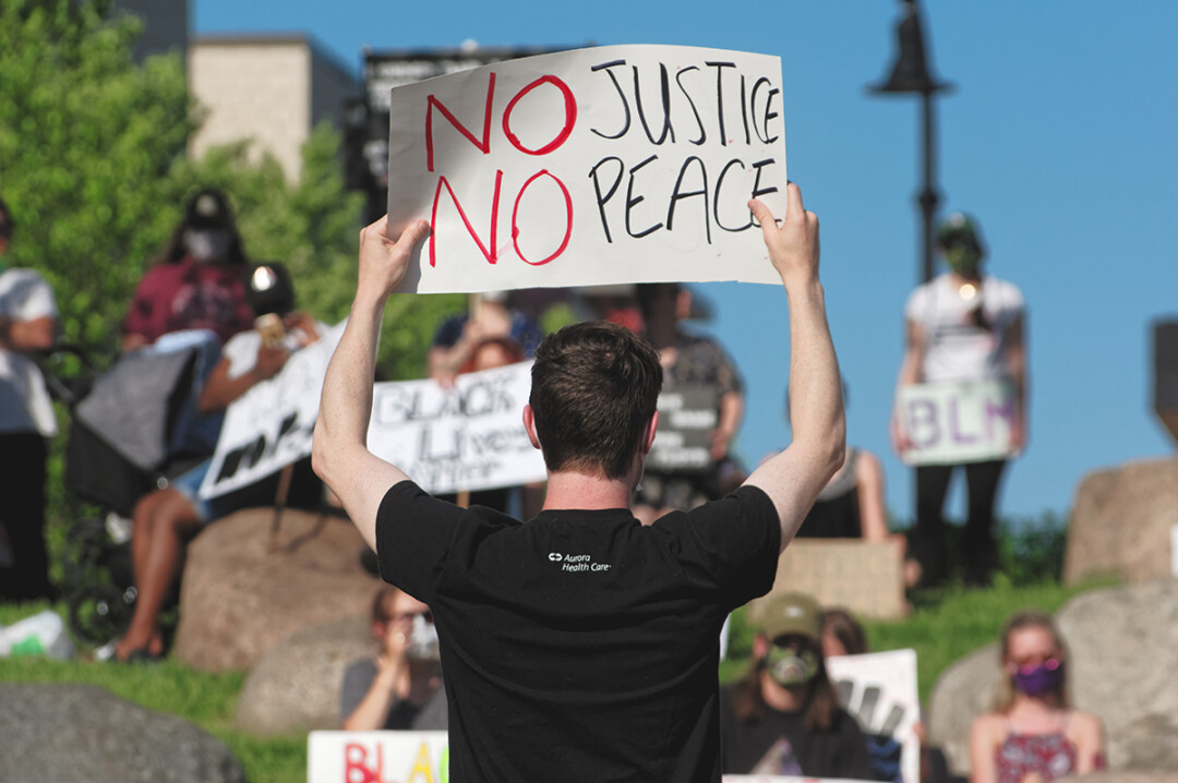 Black Lives Matter demonstration at Phoenix Park on Monday, June 1.
