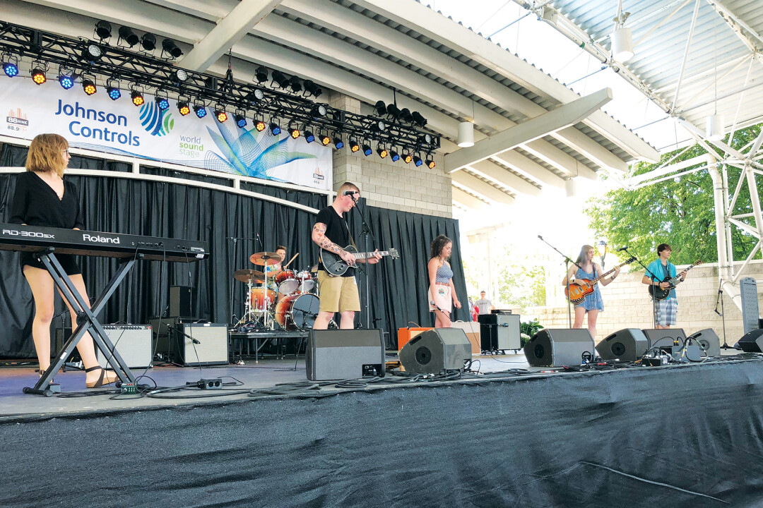 As Rockonsin runners-up in 2018, Through the Kitchen Hole, a band made of of Memorial High School grads, was able to play at Summerfest in Milwaukee.