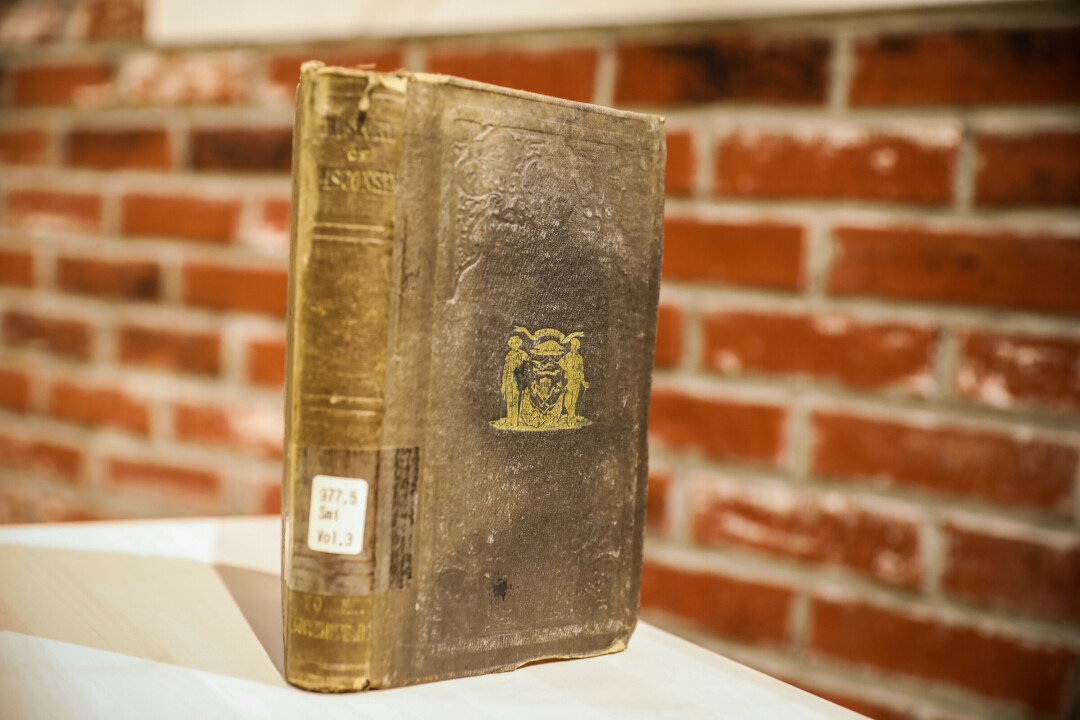 Every good archivist has an old book or two on hand, and Jodi Kiffmeyer from the Chippewa Valley Museum is no different. This 1854 book is the oldest one in the Chippewa Valley Museum's collection!