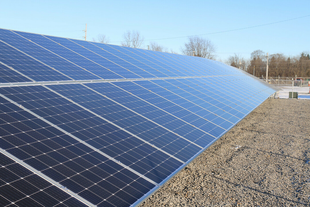 COMING SOON TO A ROOF NEAR YOU. Solar panels like these could be big energy savings for the Eau Claire school district.