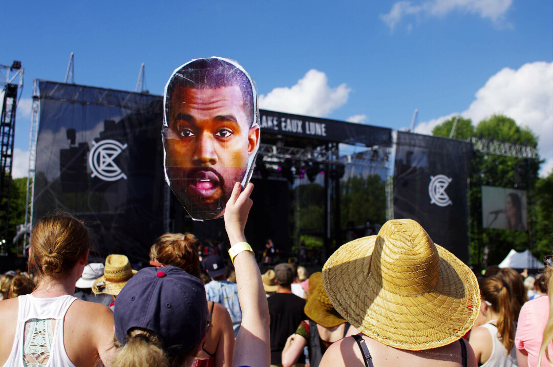 Kanye West sighting at the 2015 Eaux Claires Music & Arts Festival.