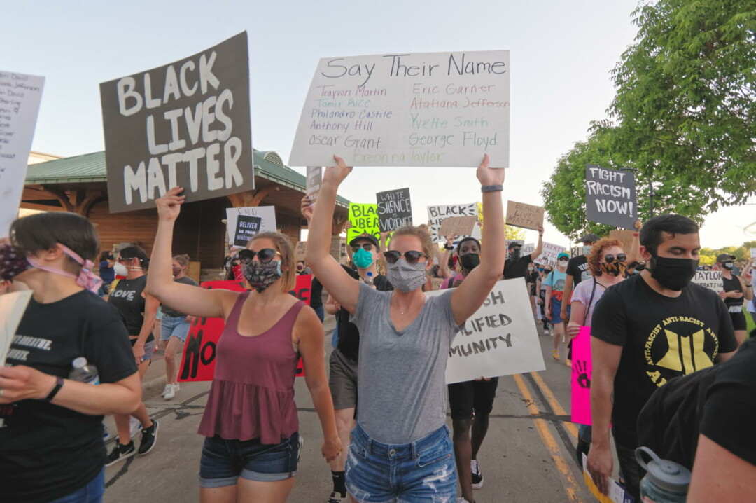 Protesters at a Black Lives Matter demonstration in Phoenix Park in June.